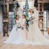невесты в нежных тонах студийная фотосессия пробуждение весны