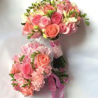 Букет невесты в нежных розовых оттенках