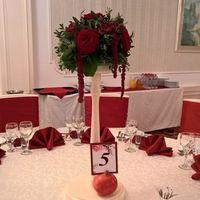 Оформление гостевого стола в цвете марсала