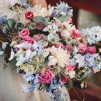 свадьба Марины и Андрея в оттенках синего и голубого