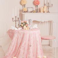 Оформление в розовом цвете.