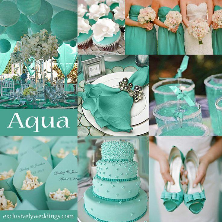 Свадебный декор в бирюзовом цвете