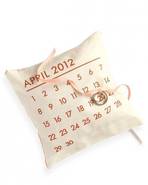 Как сделать подушечку для колец с календарем