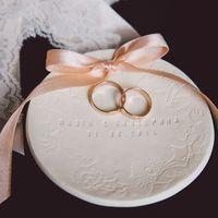 Подставка под кольца на свадьбе Кати &Паши