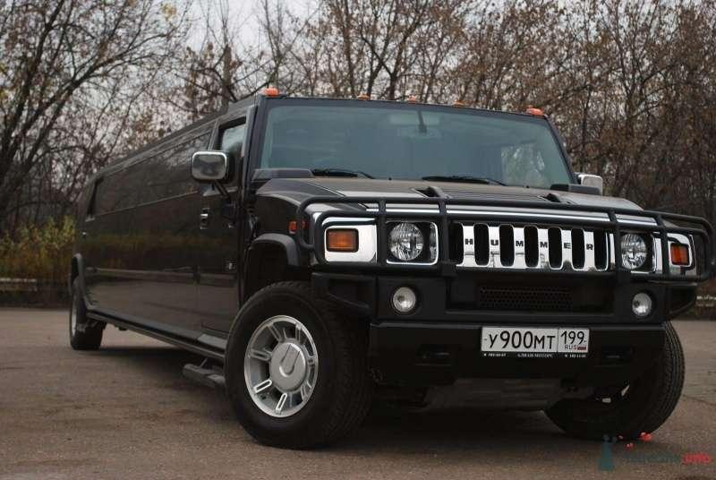 """Черный """"Hummer"""" на фоне осеннего парка. - фото 54306 Невеста01"""