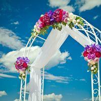 Классическая белая арка для выездных церемоний