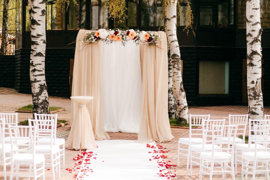 Четырехугольная свадебная арка своими руками 61