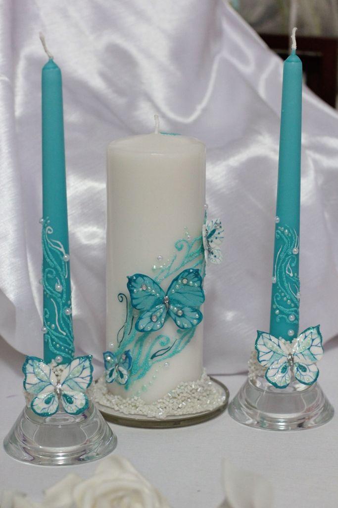 Как украсить свечи своими руками к свадьбе