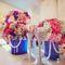изящные бокалы со стразами фиолетовая свадьба