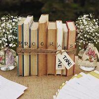 Книжная свадьба, декор