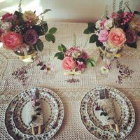 Композиция на стол жениха и невесты