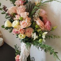 Сегодня очаровательная невеста получила свой нежный и душистый букет