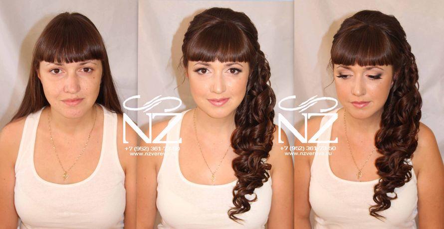 Причёски на средние волосы с прямой чёлкой