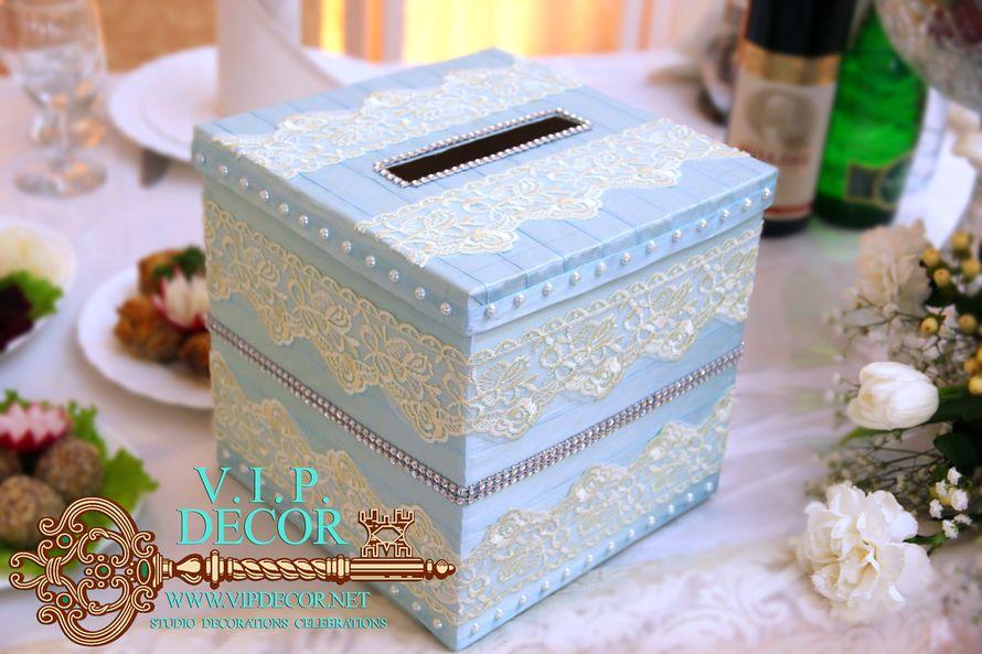 Как украсить свадебные коробки