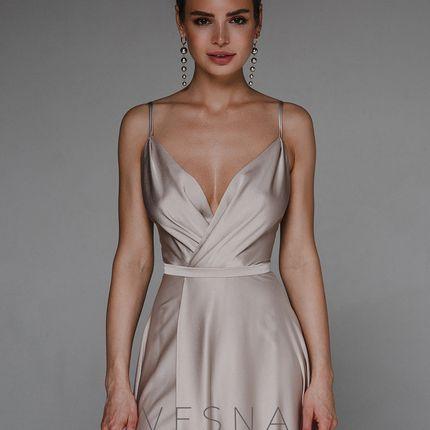 Вечернее платье Афина Пудра