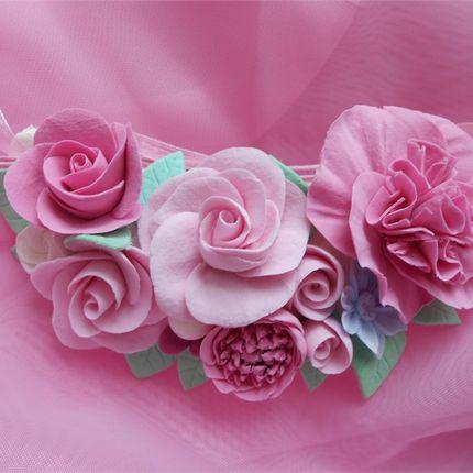 Колье розовое