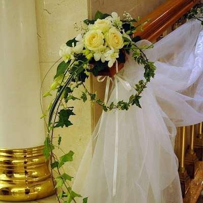 Декор из вуали на свадьбу