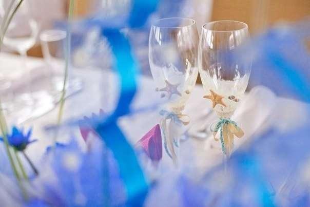 Свадебный декор. Фужеры молодых. - фото 3145185 Студия декора Люси Пасмурной