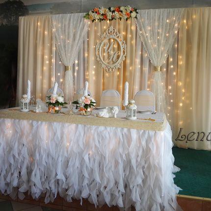 Оформление свадьбы в бежевом (персиковом) цвете