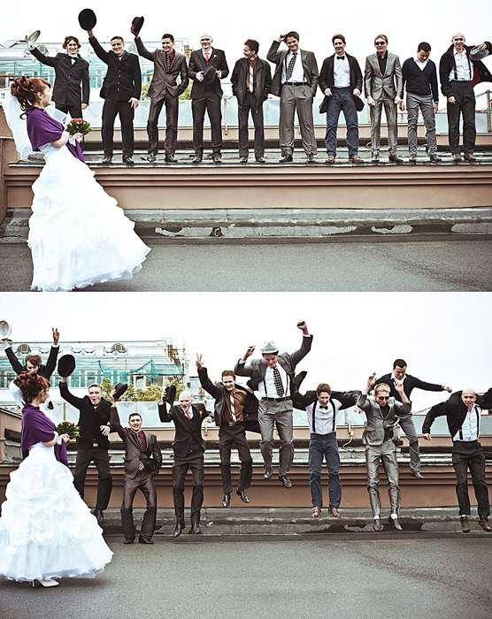 Одна невеста на толпу голодных фото