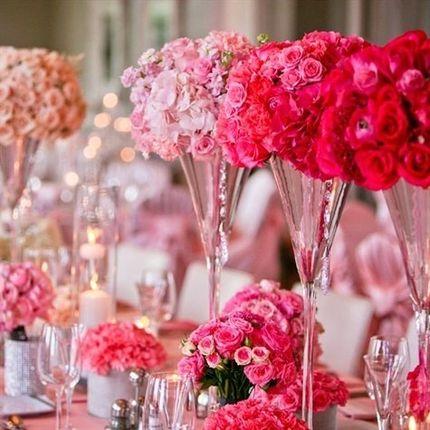 Цветы для столов гостей