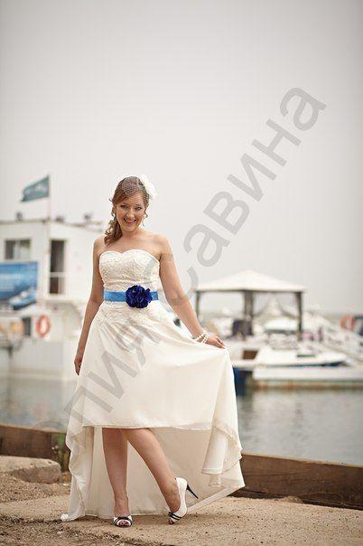 Нежное платье из шифона, с кружевным корсетом и поясом с цветком ручной работы на невесте Элеоноре! - фото 14892590 Свадебный салон Юлии Савиной