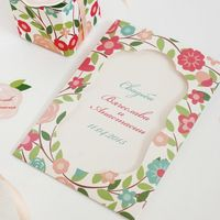 Яркие свадебные пригласительные, цветочные приглашения