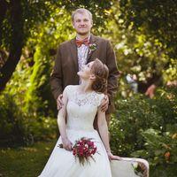 жених невеста рустик