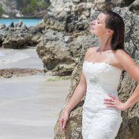 невеста, съемка в Доминикане,  пляж Макао,  скалы