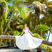 свадьба на острове Саона, Доминикана, пальмы