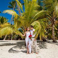 свадьба на острове Саона, Доминикана, любовь , взгляд, пальмы
