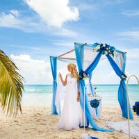 Доминикана, остров Саона, свадьба в голубом цвете, невеста