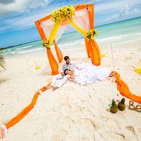 Доминикана, свадьба, оранжевая