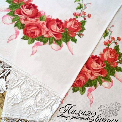 Свадебный рушник и венок