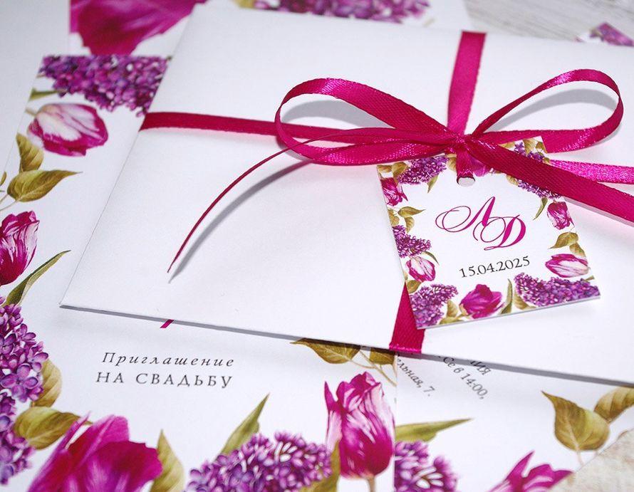 Код 1434. Цена: открытка - 6 грн., конверт - 8 грн., бирка+лента - 2 грн. - фото 13254446 Пригласительные от Style wedding