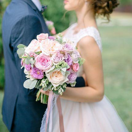 Букет невесты классической круглой формы