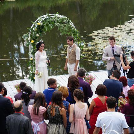 Летняя веранда  для проведения свадебного торжества.