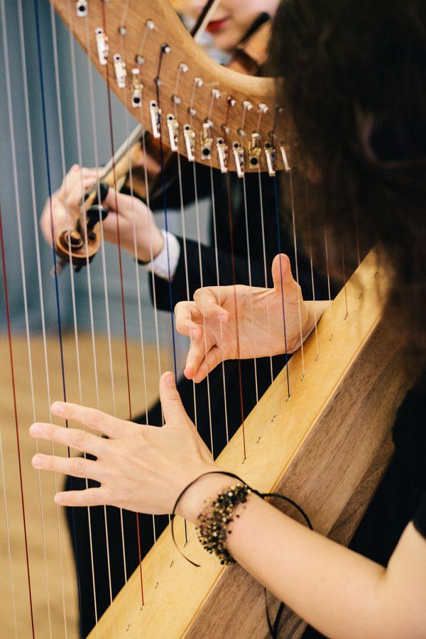 Дуэт арфа и скрипка - выступление