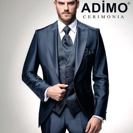 Мужской костюм-тройка Adimo, темно-синий