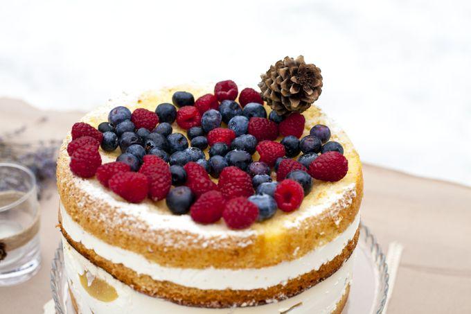 торт ягоды рустик