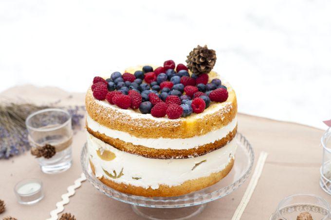 торт рустик ягоды лес