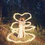 свадьба бенгальские огни лес рустик