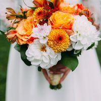 осень золотая осень букет свадьба осенний букет оранжевая свадьба