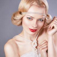 Свадебная прическа и макияж в ретро стиле