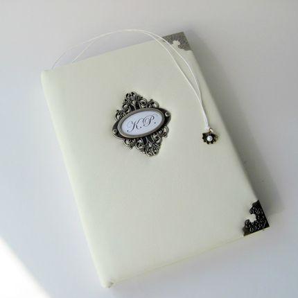 "Книга пожеланий из натуральной кожи ""Pearl"""