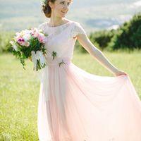 Свадебное платье из натурального шелка для Насти, ориентировочная стоимость подобного 34000 р. (работа+материалы)