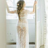 Будуарное кружевное платье для утра невесты, цена 7500 руб.