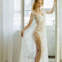 Будуарное кружевное платье для утра невесты, цена 7500 руб