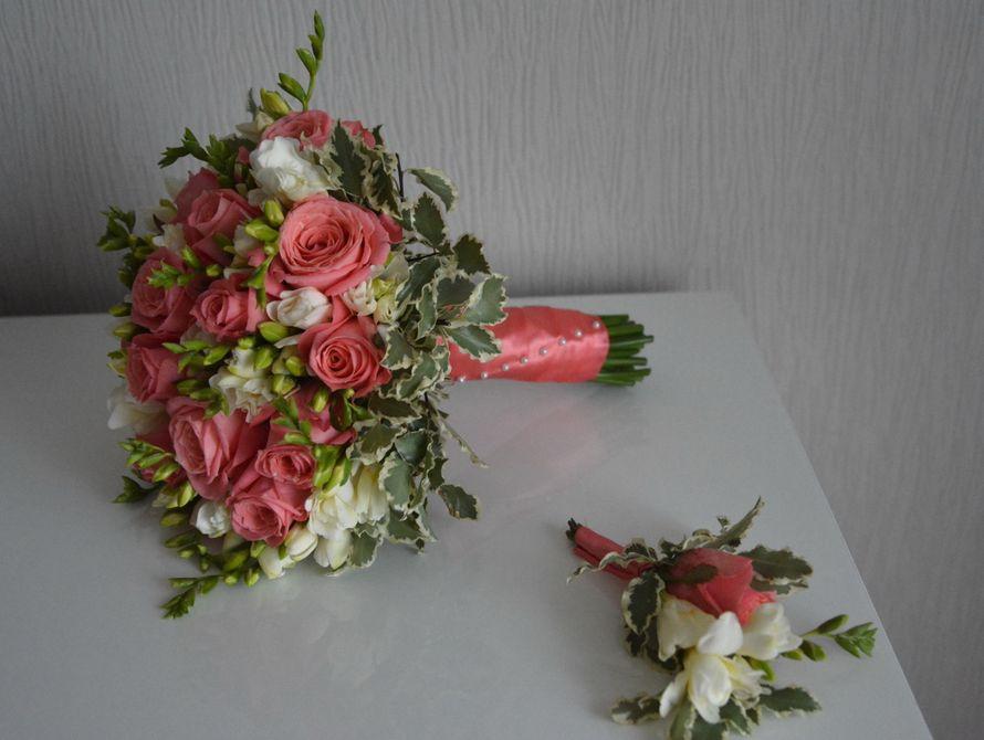 букет из фрезии и роз. - фото 3533067 Свадебный флорист-декоратор Кристина Щеглова