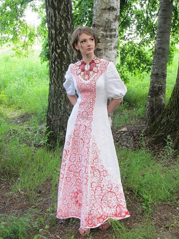 Свадебные славянские платья